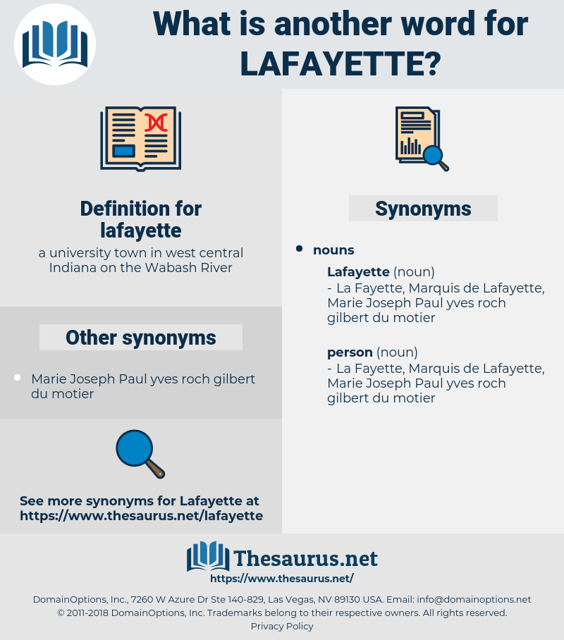 lafayette, synonym lafayette, another word for lafayette, words like lafayette, thesaurus lafayette