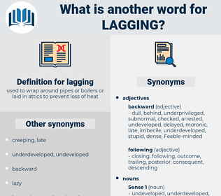lagging, synonym lagging, another word for lagging, words like lagging, thesaurus lagging