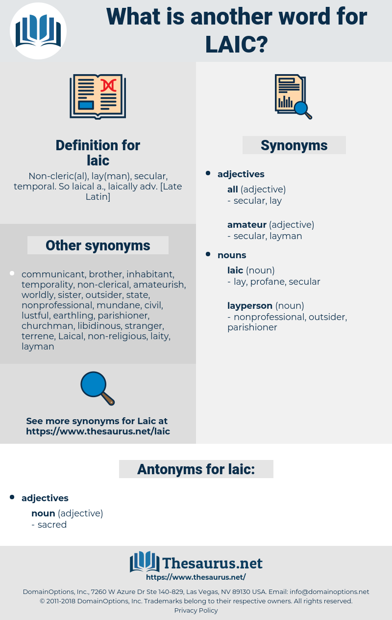 laic, synonym laic, another word for laic, words like laic, thesaurus laic