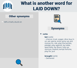 laid down, synonym laid down, another word for laid down, words like laid down, thesaurus laid down