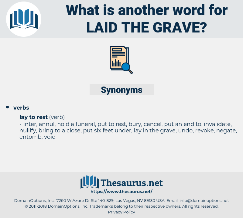 laid the grave, synonym laid the grave, another word for laid the grave, words like laid the grave, thesaurus laid the grave