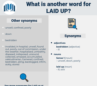 laid up, synonym laid up, another word for laid up, words like laid up, thesaurus laid up