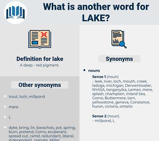 lake, synonym lake, another word for lake, words like lake, thesaurus lake