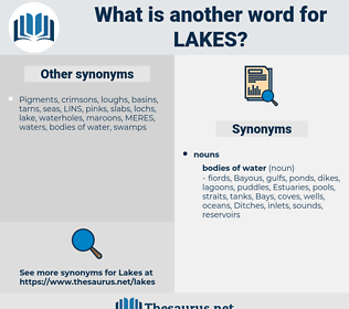 lakes, synonym lakes, another word for lakes, words like lakes, thesaurus lakes