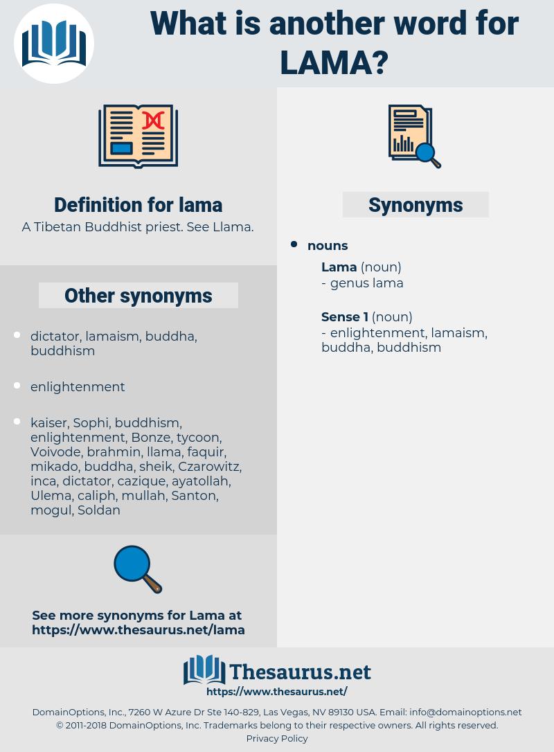 lama, synonym lama, another word for lama, words like lama, thesaurus lama