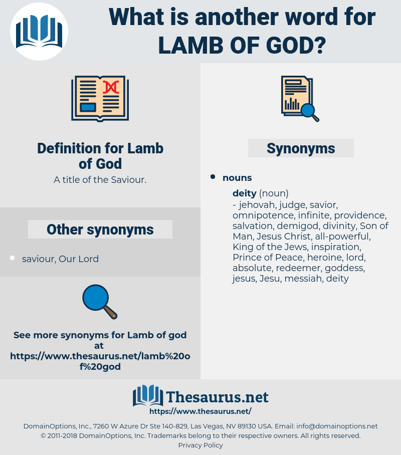 Lamb of God, synonym Lamb of God, another word for Lamb of God, words like Lamb of God, thesaurus Lamb of God