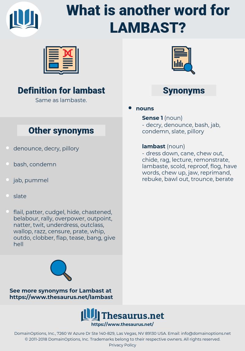 lambast, synonym lambast, another word for lambast, words like lambast, thesaurus lambast