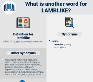 lamblike, synonym lamblike, another word for lamblike, words like lamblike, thesaurus lamblike