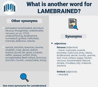 lamebrained, synonym lamebrained, another word for lamebrained, words like lamebrained, thesaurus lamebrained
