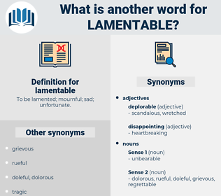 lamentable, synonym lamentable, another word for lamentable, words like lamentable, thesaurus lamentable