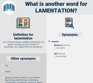 lamentation, synonym lamentation, another word for lamentation, words like lamentation, thesaurus lamentation