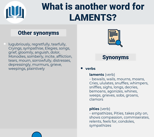laments, synonym laments, another word for laments, words like laments, thesaurus laments