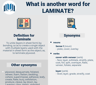 laminate, synonym laminate, another word for laminate, words like laminate, thesaurus laminate