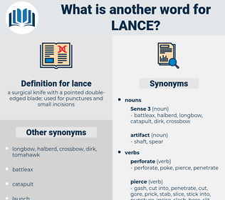 lance, synonym lance, another word for lance, words like lance, thesaurus lance