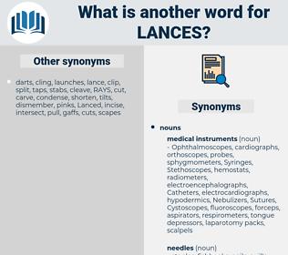 lances, synonym lances, another word for lances, words like lances, thesaurus lances