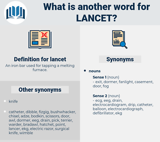 lancet, synonym lancet, another word for lancet, words like lancet, thesaurus lancet