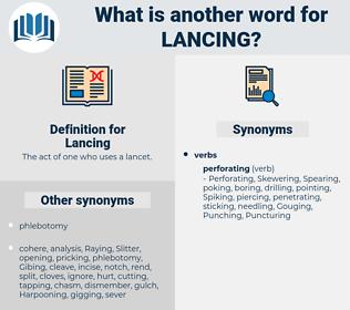 Lancing, synonym Lancing, another word for Lancing, words like Lancing, thesaurus Lancing