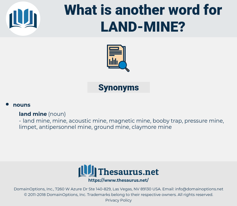 land mine, synonym land mine, another word for land mine, words like land mine, thesaurus land mine