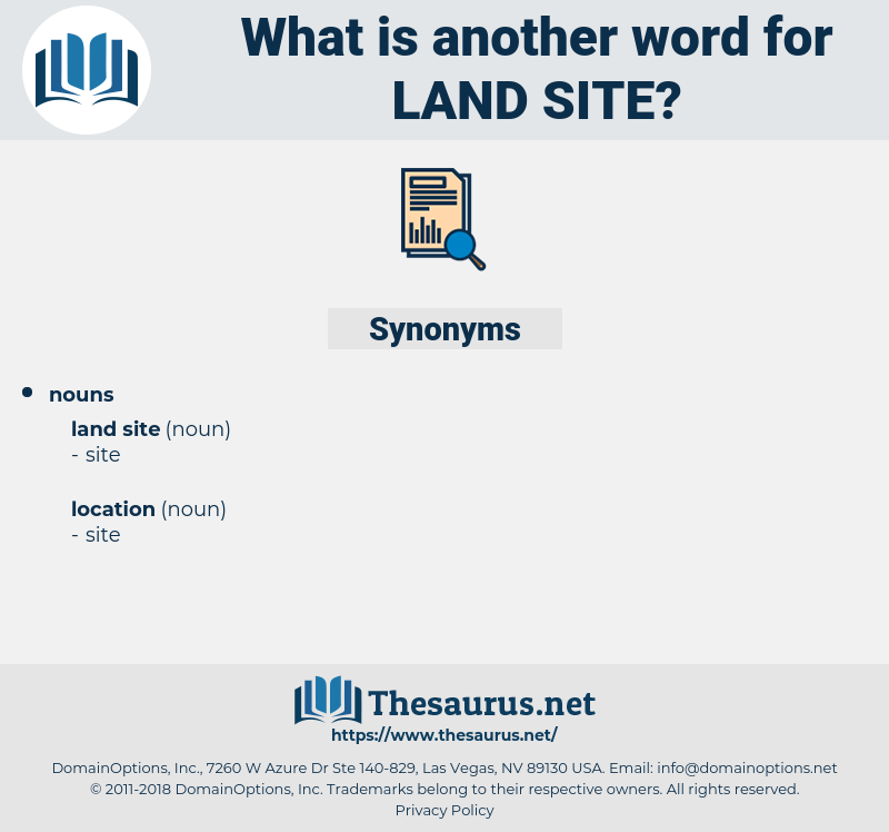 land site, synonym land site, another word for land site, words like land site, thesaurus land site