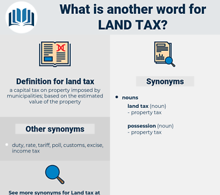 land tax, synonym land tax, another word for land tax, words like land tax, thesaurus land tax