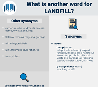 landfill, synonym landfill, another word for landfill, words like landfill, thesaurus landfill