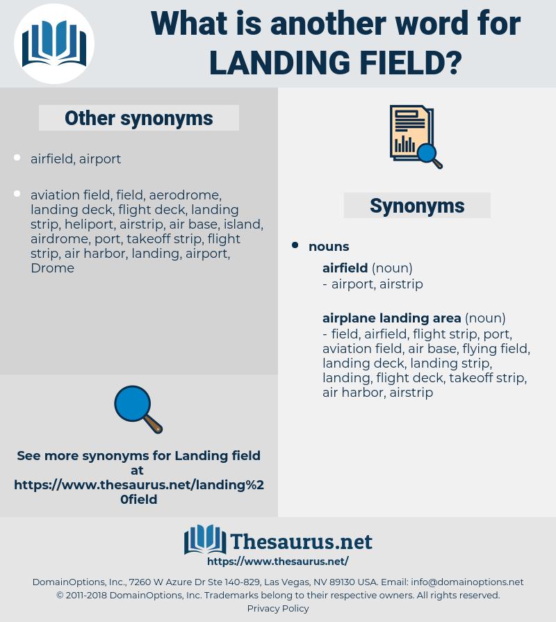 landing field, synonym landing field, another word for landing field, words like landing field, thesaurus landing field
