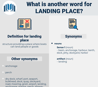 landing place, synonym landing place, another word for landing place, words like landing place, thesaurus landing place