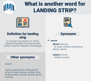 landing strip, synonym landing strip, another word for landing strip, words like landing strip, thesaurus landing strip