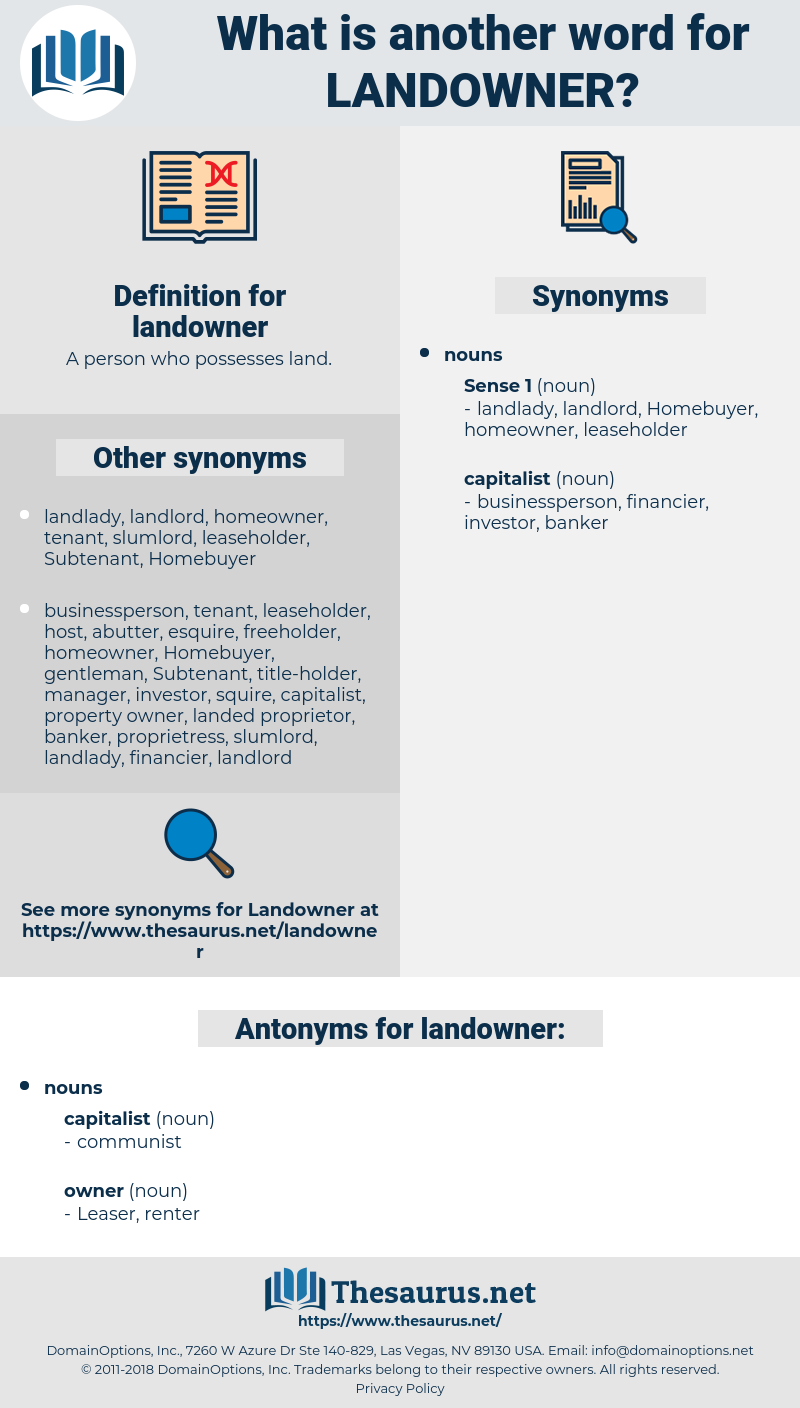 landowner, synonym landowner, another word for landowner, words like landowner, thesaurus landowner