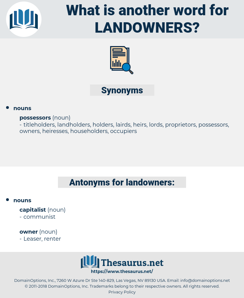 landowners, synonym landowners, another word for landowners, words like landowners, thesaurus landowners