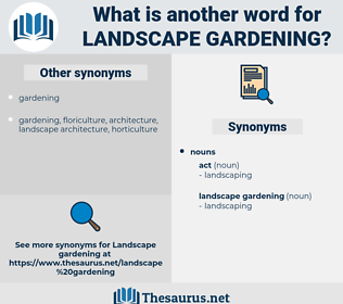landscape gardening, synonym landscape gardening, another word for landscape gardening, words like landscape gardening, thesaurus landscape gardening