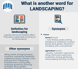 landscaping, synonym landscaping, another word for landscaping, words like landscaping, thesaurus landscaping