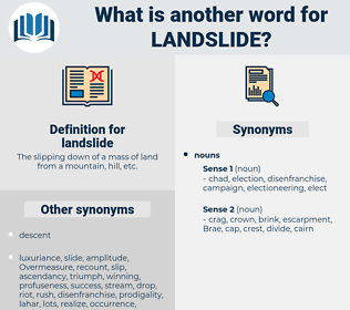 landslide, synonym landslide, another word for landslide, words like landslide, thesaurus landslide