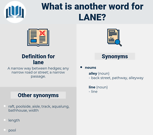 lane, synonym lane, another word for lane, words like lane, thesaurus lane