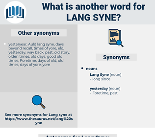 Lang Syne, synonym Lang Syne, another word for Lang Syne, words like Lang Syne, thesaurus Lang Syne