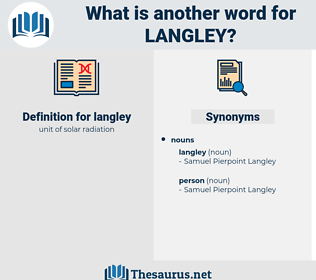 langley, synonym langley, another word for langley, words like langley, thesaurus langley