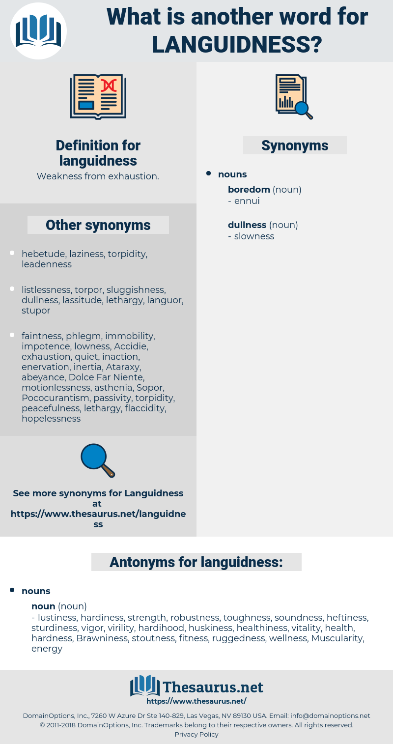 languidness, synonym languidness, another word for languidness, words like languidness, thesaurus languidness