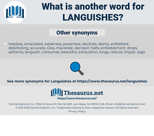 languishes, synonym languishes, another word for languishes, words like languishes, thesaurus languishes