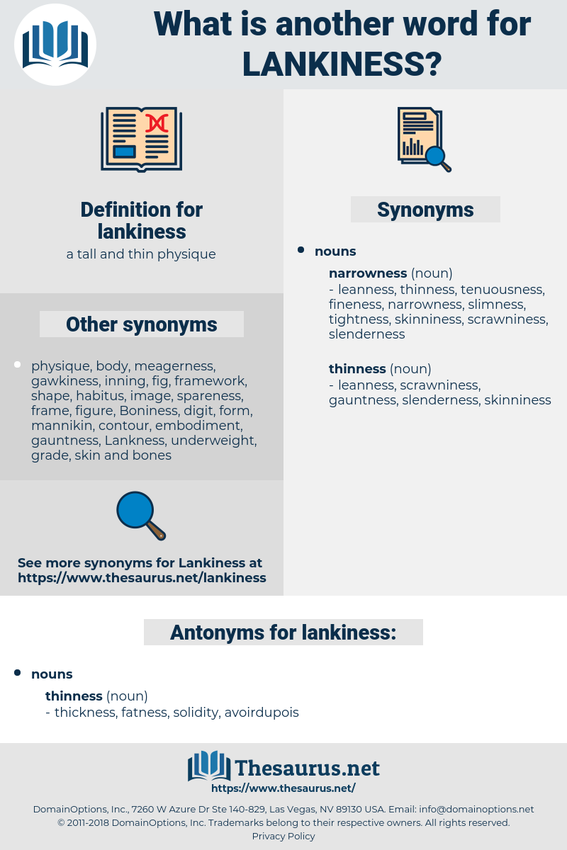 lankiness, synonym lankiness, another word for lankiness, words like lankiness, thesaurus lankiness