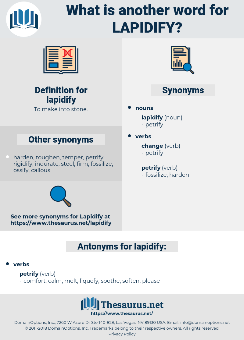 lapidify, synonym lapidify, another word for lapidify, words like lapidify, thesaurus lapidify