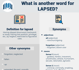 lapsed, synonym lapsed, another word for lapsed, words like lapsed, thesaurus lapsed