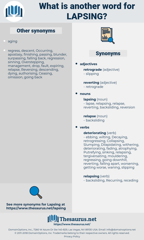 lapsing, synonym lapsing, another word for lapsing, words like lapsing, thesaurus lapsing