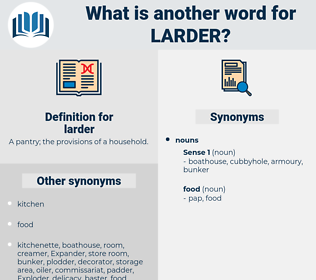 larder, synonym larder, another word for larder, words like larder, thesaurus larder