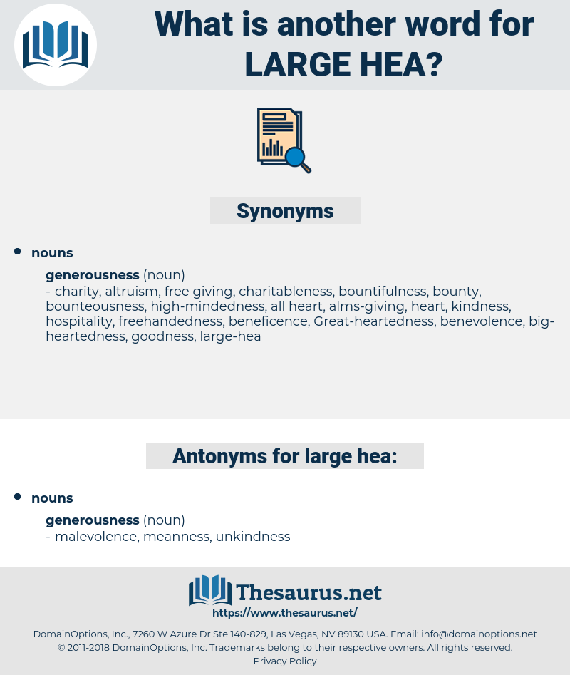 large-hea, synonym large-hea, another word for large-hea, words like large-hea, thesaurus large-hea