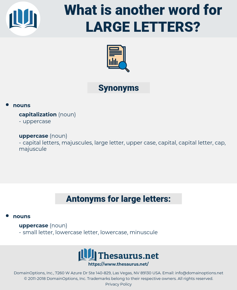 large letters, synonym large letters, another word for large letters, words like large letters, thesaurus large letters