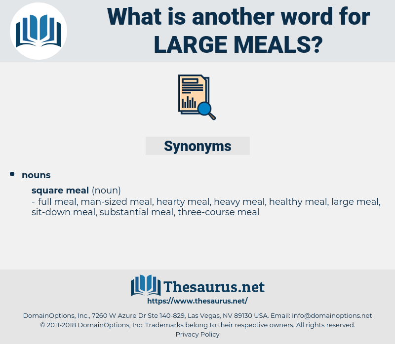 large meals, synonym large meals, another word for large meals, words like large meals, thesaurus large meals