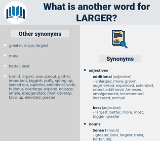 larger, synonym larger, another word for larger, words like larger, thesaurus larger