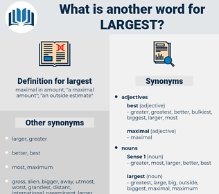 largest, synonym largest, another word for largest, words like largest, thesaurus largest