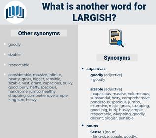 largish, synonym largish, another word for largish, words like largish, thesaurus largish