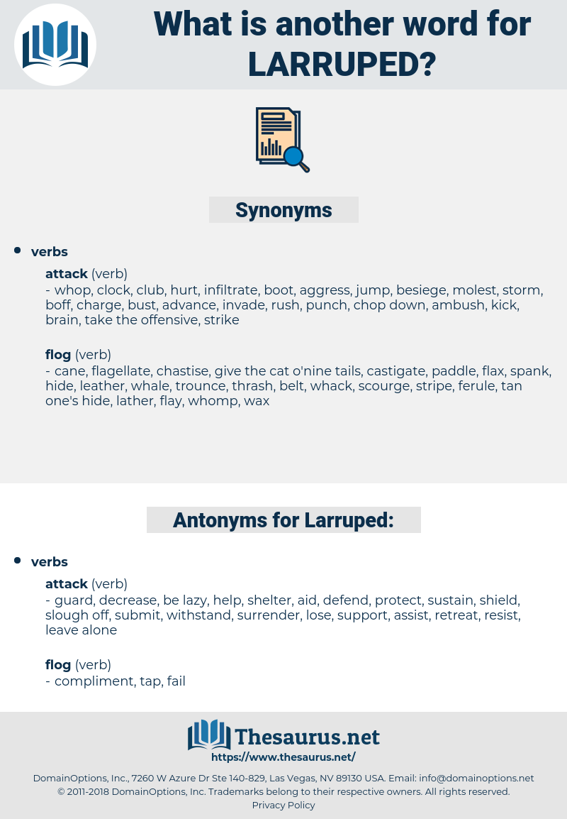 Larruped, synonym Larruped, another word for Larruped, words like Larruped, thesaurus Larruped